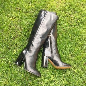 COACH Brigitte black boot tall 8.5